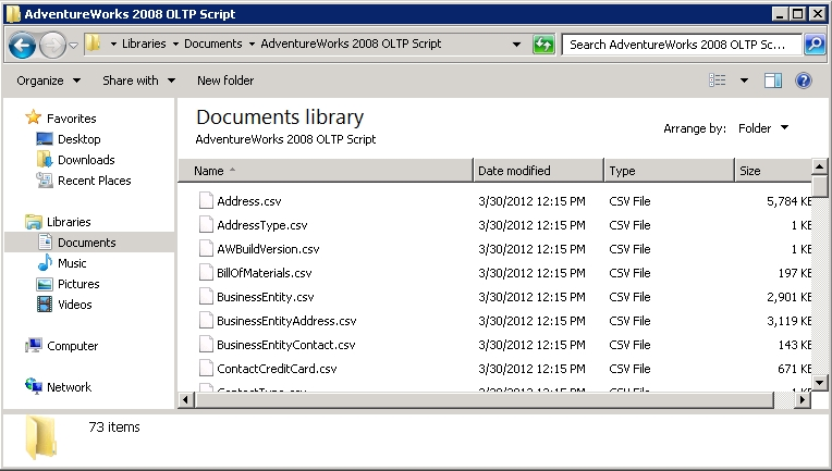 Installing Sample Databases for SQL Server 2008R2 - Steve