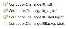 Database Corruption Challenge #10 files
