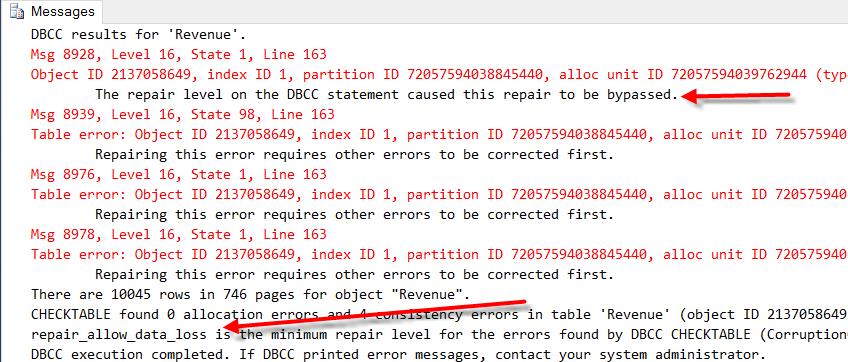 CheckDB_CheckTable_Rebuild