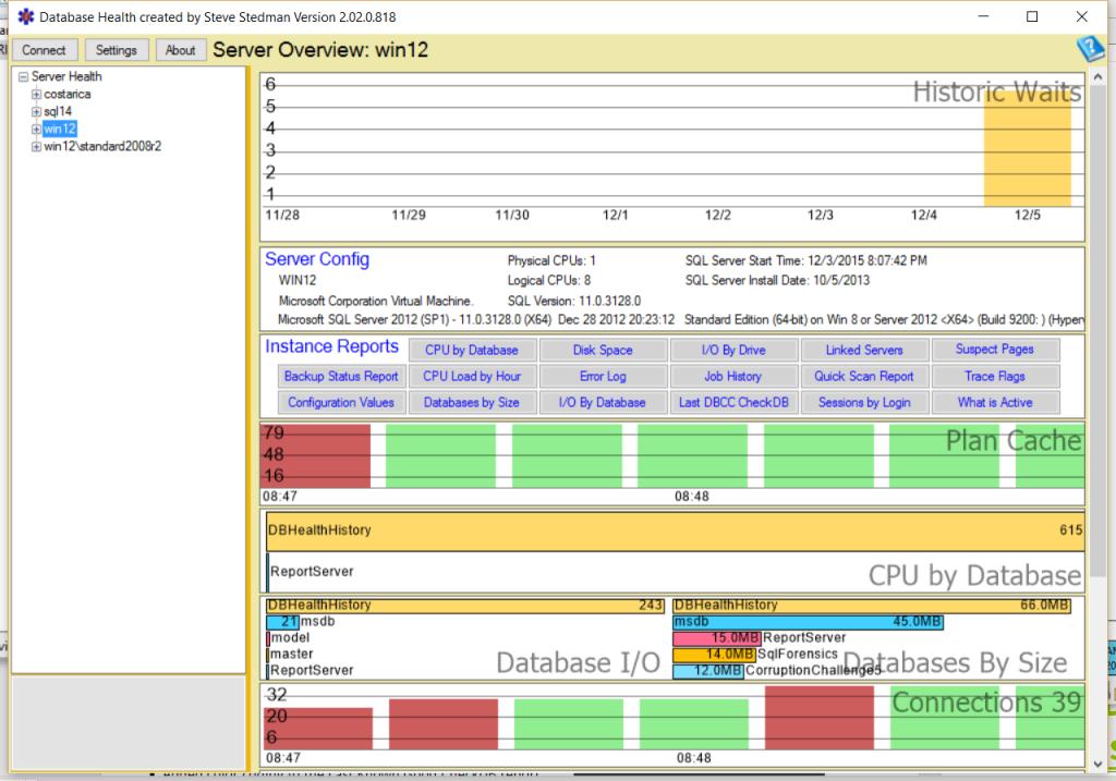 Database Health Monitor