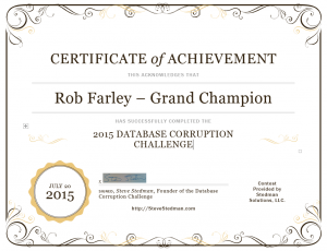 Grand Champion - Rob Farley