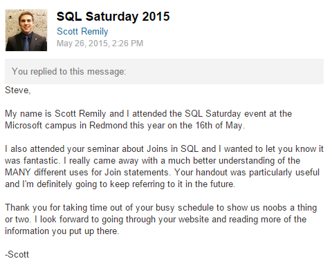SQL Saturday Rave