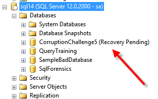 SQL14RecoveryPending