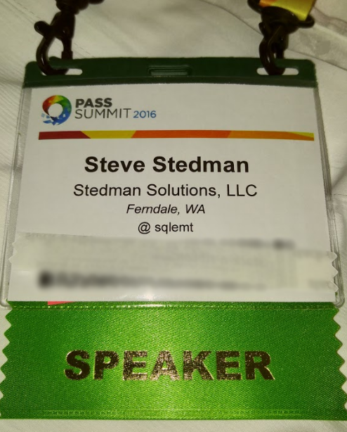 Pass Summit 2016 Speaker