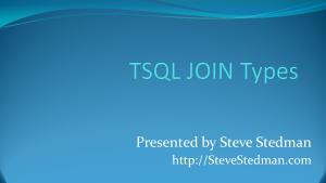 TSQL JOIN Types
